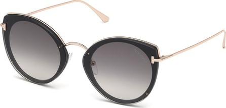 TOM FORD Acetate & Metal Cat-Eye Sunglasses