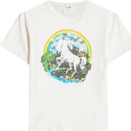RE/DONE Unicorn Dream Cotton T-Shirt