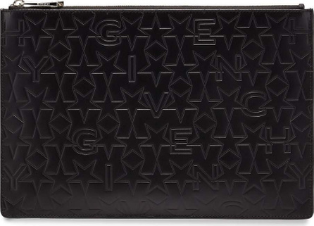 Givenchy Star-Embossed Medium Pouch, Black