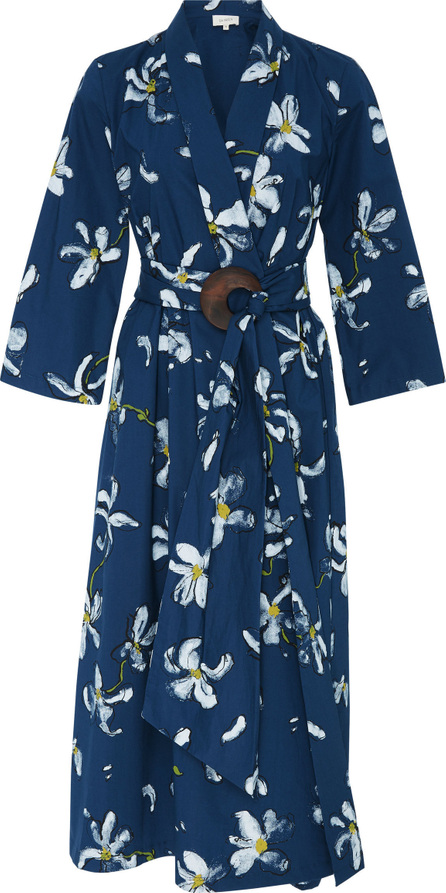 Isa Arfen Magnolia Stretch Cotton Robe Dress