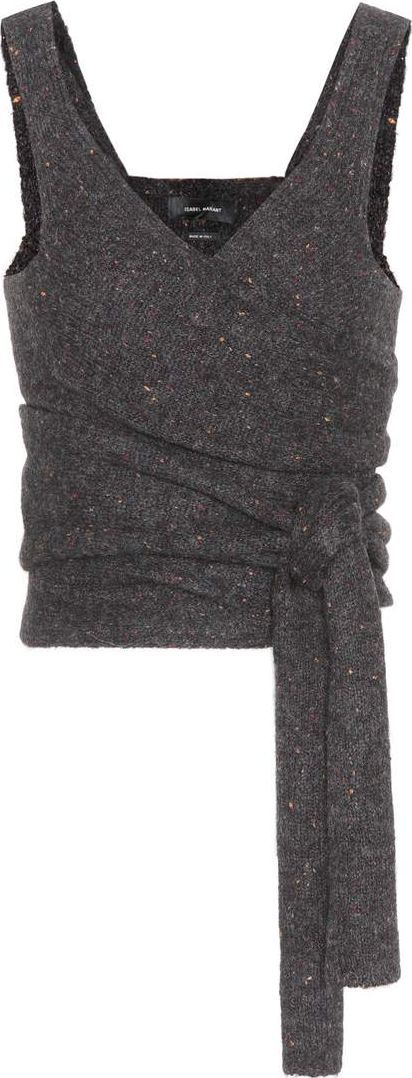 Isabel Marant Ebony alpaca-blend top