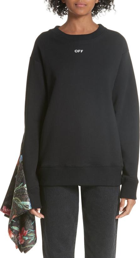 Off White Foulard Sleeve Crewneck Sweatshirt
