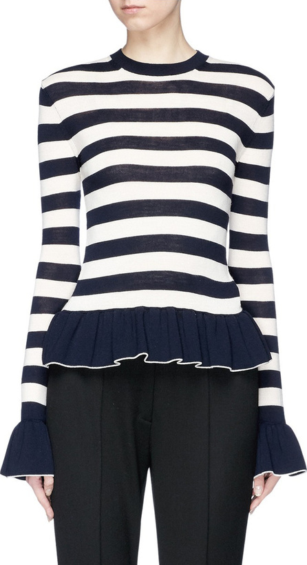 Alexander White 'The Claudia' stripe peplum sweater