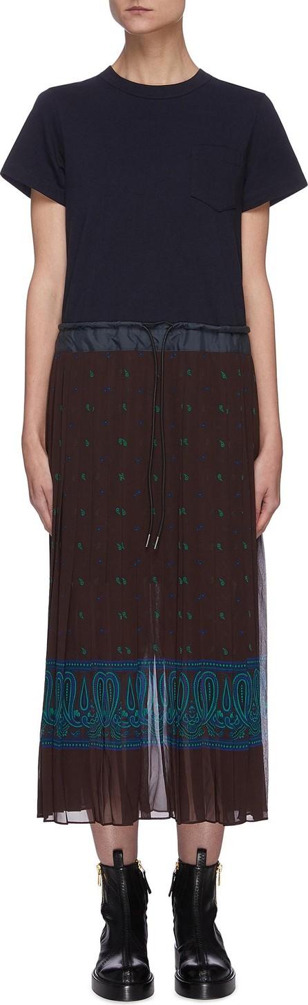 Sacai Bandana print pleated skirt dress