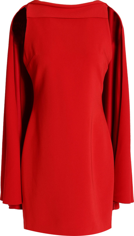 Alice + Olivia Neely cape-back crepe mini dress