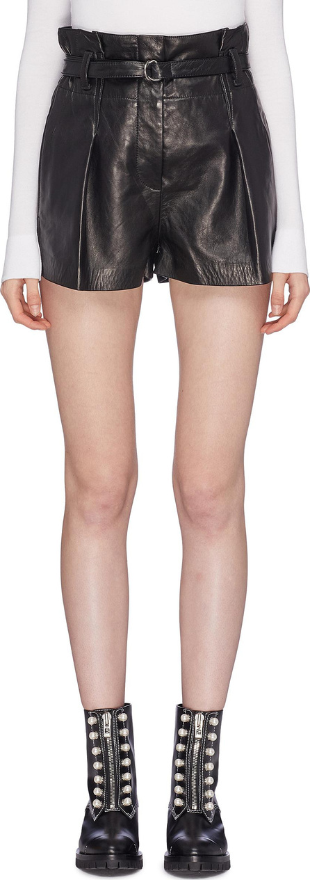 3.1 Phillip Lim 'Origami' belted leather paperbag shorts
