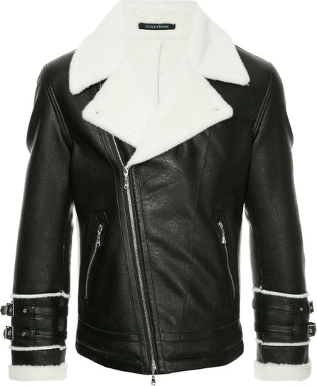 Guild Prime Faux fur trim biker jacket