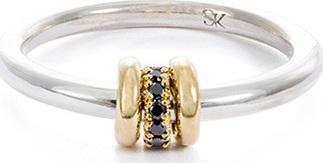 Spinelli Kilcollin 'Sirius SG' diamond 18k yellow gold silver ring