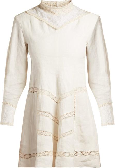 Isabel Marant Loane crochet-insert linen dress