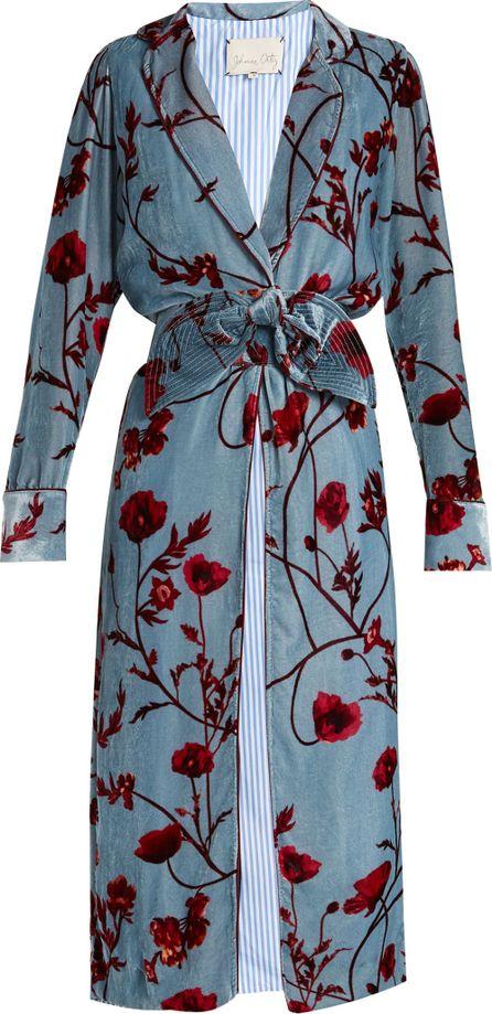 Johanna Ortiz Florari belted velvet coat