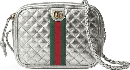 Gucci Trapuntata Metallic Leather Mini Crossbody Bag