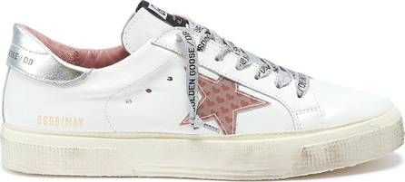 Golden Goose Deluxe Brand 'May' heart print star patch leather sneakers