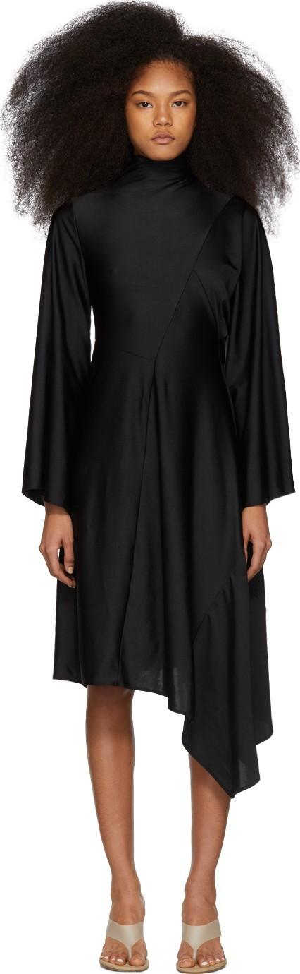 Ambush Black 'Waves' Patchwork Drape Dress