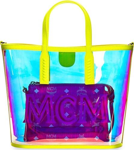 MCM Luccent Medium See-Through Neon Tote Bag