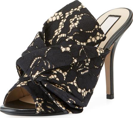 Nº21 Lace Bow Slide Sandals