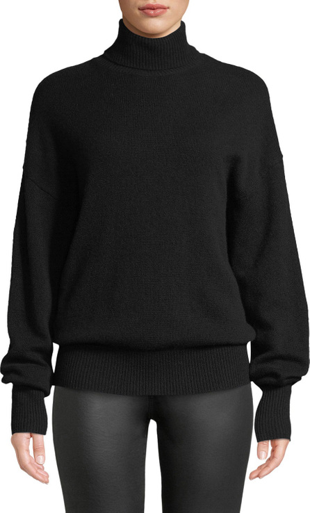 Theory Cashmere Drop-Shoulder Turtleneck Sweater