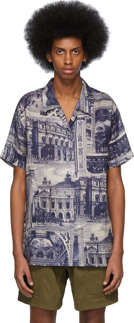 Acne Studios Blue & Taupe Rellah Theatre Shirt