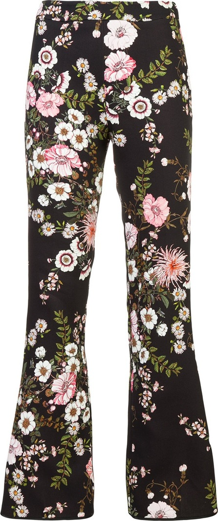 Giambattista Valli floral print flared trousers