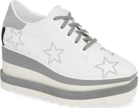 Stella McCartney Sneak-Elyse Studded Wedge Sneaker