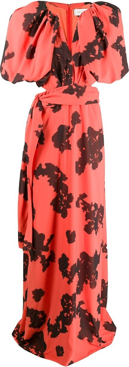 Hellessy Cut out floral print dress