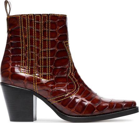 Ganni Rosette 75 cowboy boots