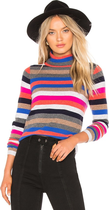 525 America Cashmere Striped Turtleneck