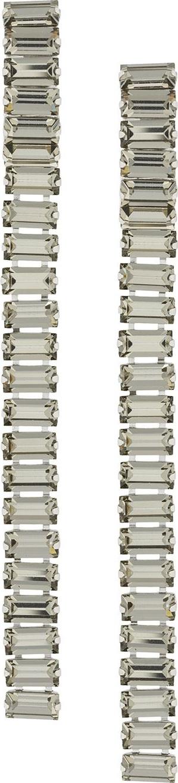 Alberta Ferretti Crystal embellished long earrings
