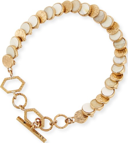 Akola Small Circle-Disc Bracelet, White