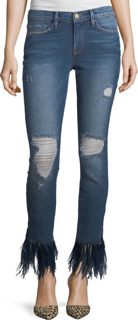 FRAME DENIM Le Skinny De Jeanne Feather Hem Jeans