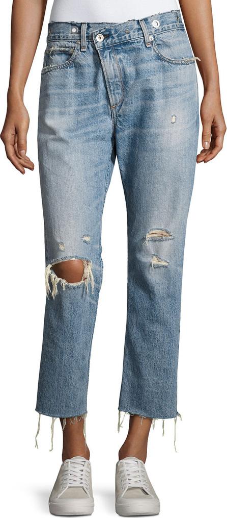 Rag & Bone Wicked Deconstructed Denim Jeans