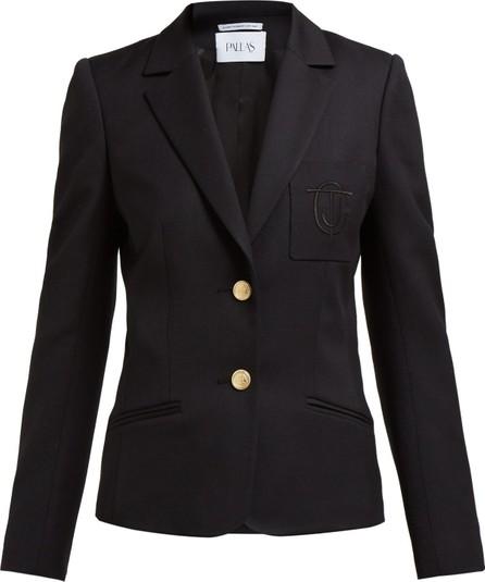 Pallas x Claire Thomson-Jonville Eton crest-embroidered wool blazer