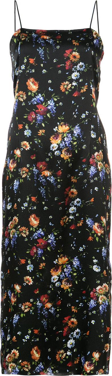 Adam Lippes Floral-print midi cami dress