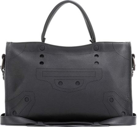 Balenciaga Blackout City Small leather tote