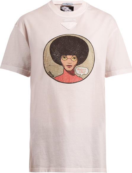 Prada Angela Davis cotton T-shirt