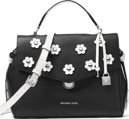 MICHAEL MICHAEL KORS Bristol Two-Tone Medium Satchel Bag with Flowers