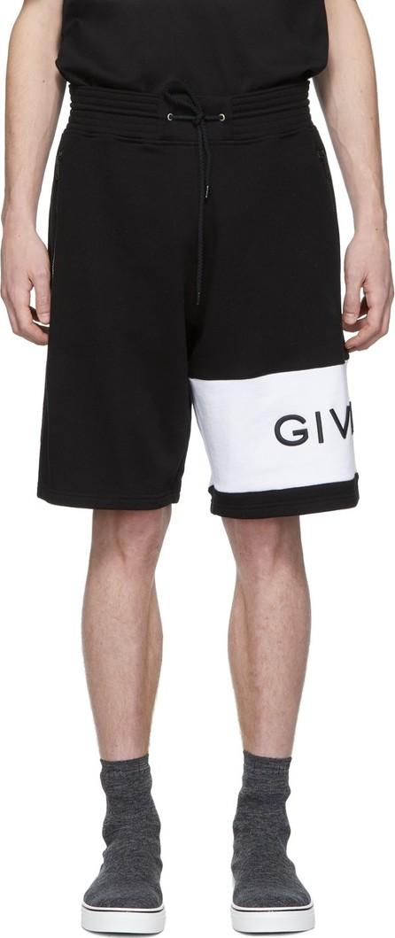Givenchy Black Embroidered Logo Shorts