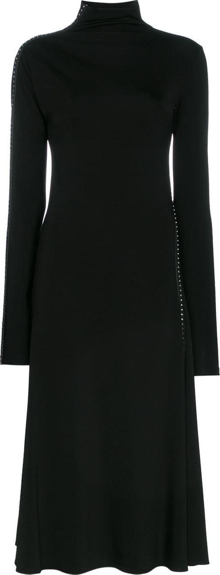 Helmut Lang High neck stud embellished dress