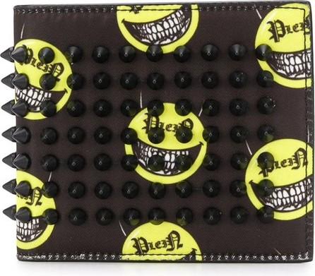 Philipp Plein Smiling face foldover wallet