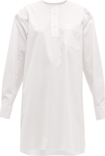 Connolly Oversized pleated cotton shirt