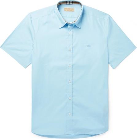 Burberry London England Stretch-Cotton Poplin Shirt