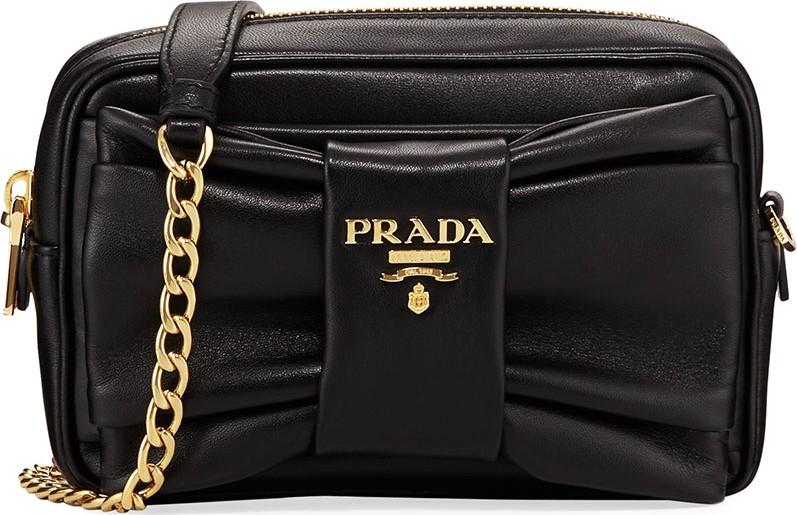 e5ead2acb0 Prada Small Napa Leather Shoulder Bag - Mkt