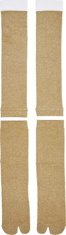Goodfight Gold Two-Piece Tabi Socks