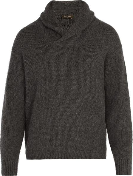 Berluti Shawl-collar cashmere-blend sweater