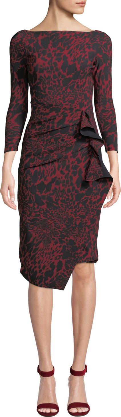 La Petite Robe di Chiara Boni Zelma Side-Shirred Printed Dress