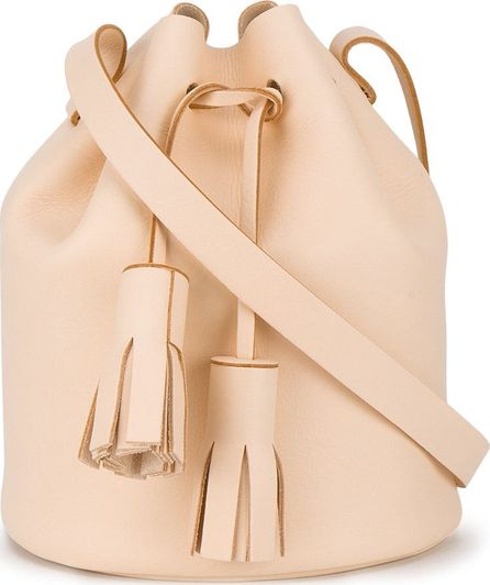 Building Block bucket tassel shoulder bag