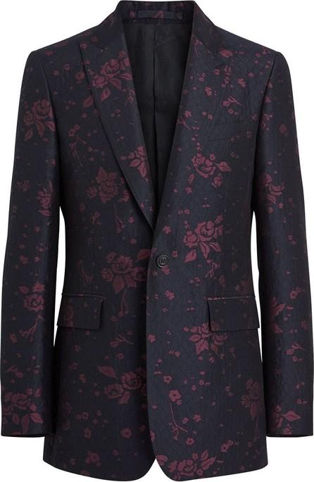 Burberry London England Slim Fit Silk Wool Matelassé Evening Jacket