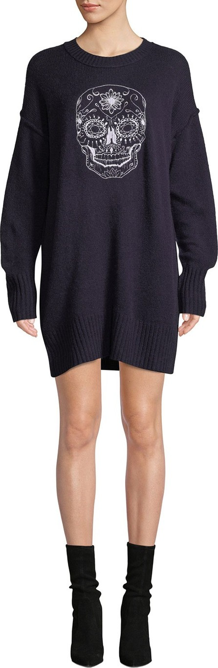 360 Cashmere Coco Wool-Cashmere Skull Sweaterdress