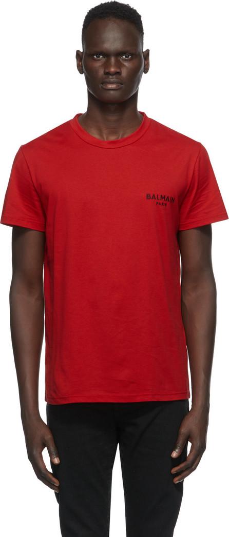 Balmain Red Round Neck T-Shirt