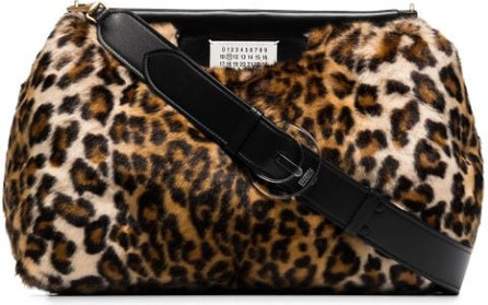Maison Margiela Glam Slam leopard-print bag