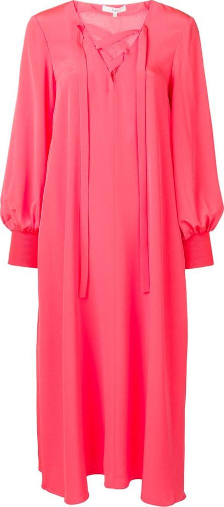Tibi Lace-up detail dress